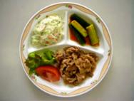 豚肉のチリチィ・シルバーサラダ・きゅうりのキムチ