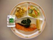 さけのムニエル・野菜みそマヨネーズあえ・しめじの天ぷら