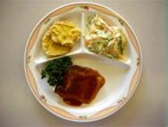 さわらの味噌煮・さつまいもの天ぷら・シルバーサラダ